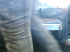bus wank in jeans