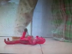 Big Cock Zombie Trample footjob and Crushed