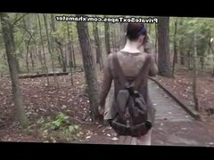 Fucked and Cum shot his girlfriend in the forest