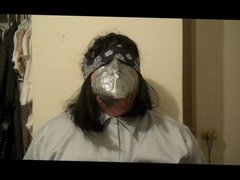 Being punished by Damselgrabber, smothered by duct tape.