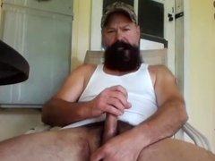 Redneck Pipe Smoking and Stroking