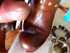 Cum on my wife ankle boots!