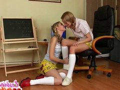 two little lesbian teen lick pussy and tits