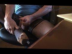 Stockings & Heels with cumshot