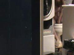 Hidden cam caught my mom nude shaving pussy