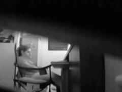 My cute mom masturbating at her desk. Hidden cam
