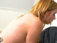 Hot Blonde Bubble Butt Bounces On A Cock