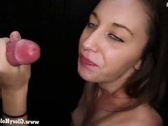 Gloryhole Secrets sexy Layla sucking strangers hard cock