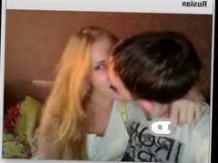 Kissing Russian couple on ChatRoulette