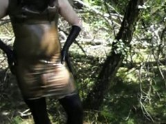 TV Latex Ladies are playing in the Woods Pt 1