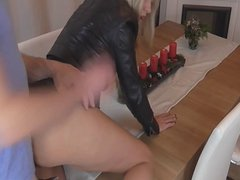 Blonde fucked before handjob facial