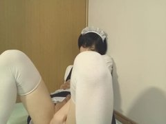Amateur Japanese CD cute maid jack