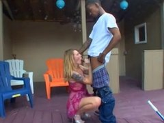 Horny housewife seduces her bbc pool guy
