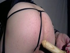 Crossdresser Jojo Puts A Dildo Up Her Ass