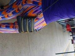 Big Thick Colombian Ass in Tye Dye Spandex