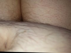 wife fucking me reverse cowgirl, big hairy ass in my face