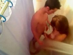 amateur couple fuck in the showers