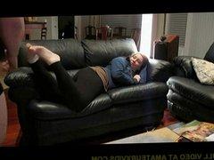 Chubby GF Pounded on the Sofa