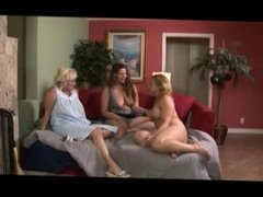 Granny, MILF, and Youngster Have Lesbian Threesome