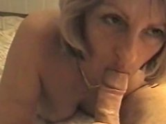 Blonde Milf Blowjob Closeup
