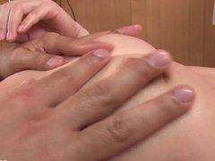 Chinatsu gives an asian blowjob and fucks