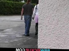 Busty bitch is picked up and fucked in restroom