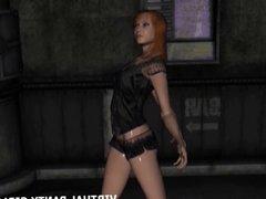 3d stripper getting nasty on the dance floor