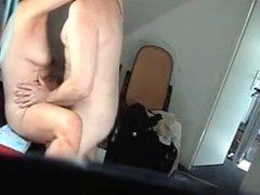 Mature couple fucks on hidden cam