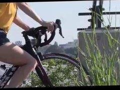 Sexy boobs cycling
