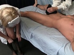 Nurse Handjob: Pantyhose Ejaculation
