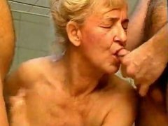 Horny german granny and two boys
