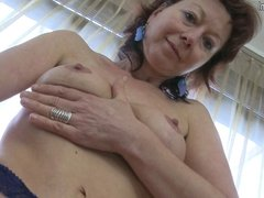 Skinny mature mommy dreaming of your cock