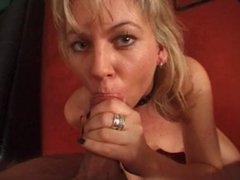 Blonde Milf Blowjob and Tit Fuck
