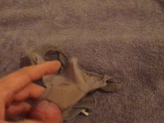 jerking on used panties