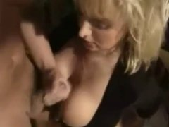 Guy licks Cum Off Tits