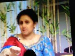 Laxmi ramkrishnan aunty cum drenched