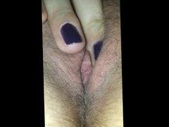 hairy pussy closeup masturbation