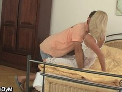 Czech blonde cheats him with NOT his brother