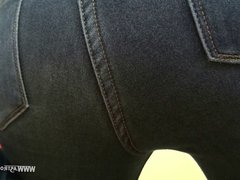 Jeans Facesitting Ass Sniffing - Butt Slave is back for more
