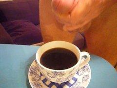 Creaming a coffee for Lycragayman!