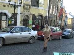 Sweet blonde teen naomi naked on public streets