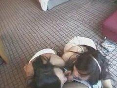 Thai double blowjob - Oiy and Ya
