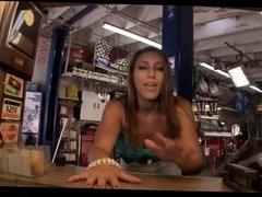 Rylinn Rae & Sadie Santana Threesome In Garage