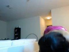 Black slut twerking - virtual lapdance on webcam