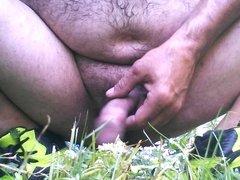 me masturbating in my friends backyard