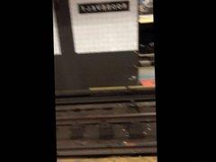 NYC subway voyeur sexy latina yoga pants
