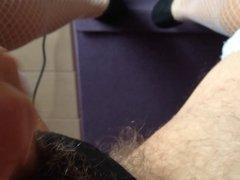 stockings and cum