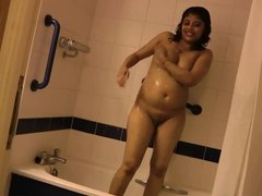 amateur indian babe rupali naked in shower exposing bigtits