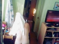 Hidden cam milf dressing after shower 1