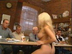 Karen White strips for old guys